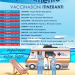 Nel Lazio il vaccino ti segue ovunque